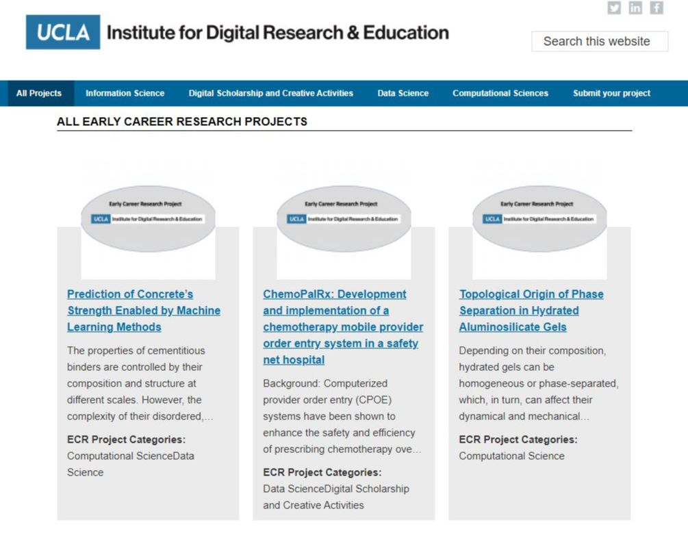 ECR site screenshot