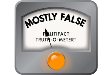 False Politifact meter