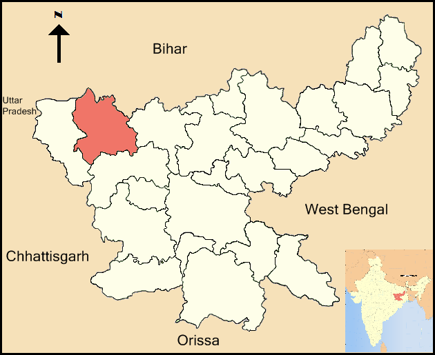 Palamu District in Jharkhand state, India. (Joy 1963)