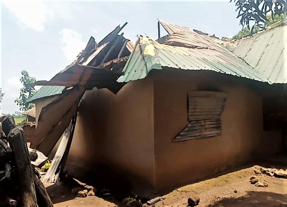Destruction by Muslim Fulanis in Ungwan Anjo village, Kaduna state, Nigeria. (Morning Star News)