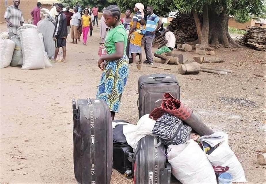 People displaced by violence on Gonan Rogo village, Kaduna state, Nigeria. (Morning Star News)
