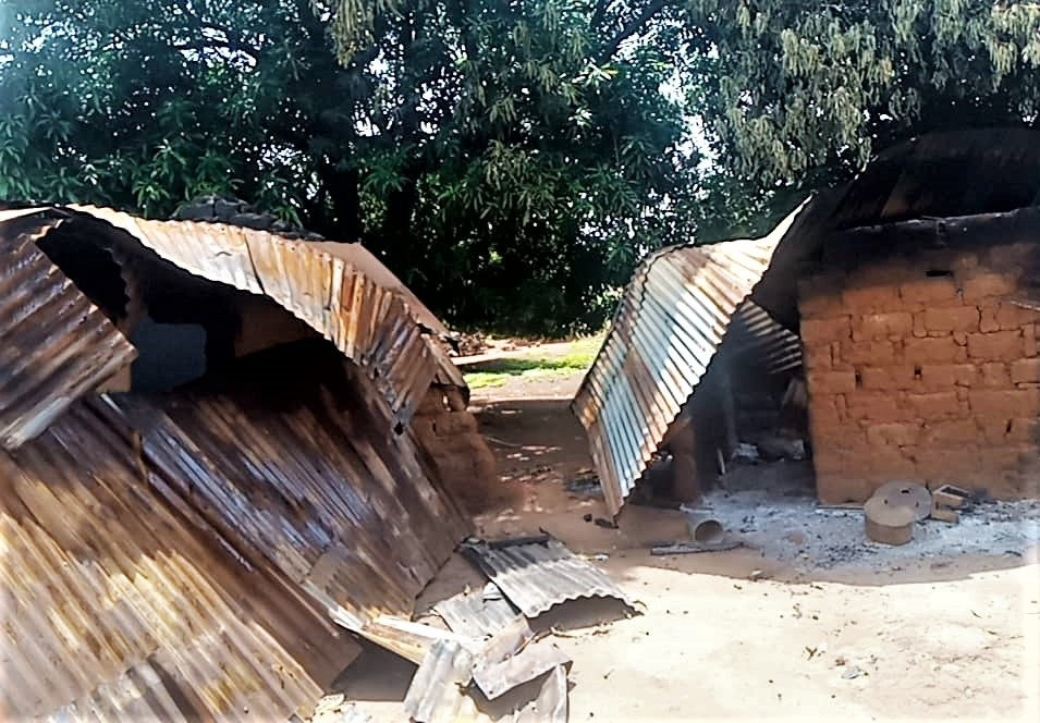 Muslim Fulanis destroyed homes in attack on Ungwan Anjo village, Kaduna state. (Morning Star News)
