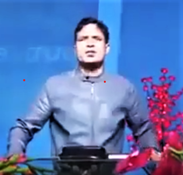 Pastor Keshab Acharya preaching in Pokhara, Nepal. (Morning Star News screenshot from YouTube)