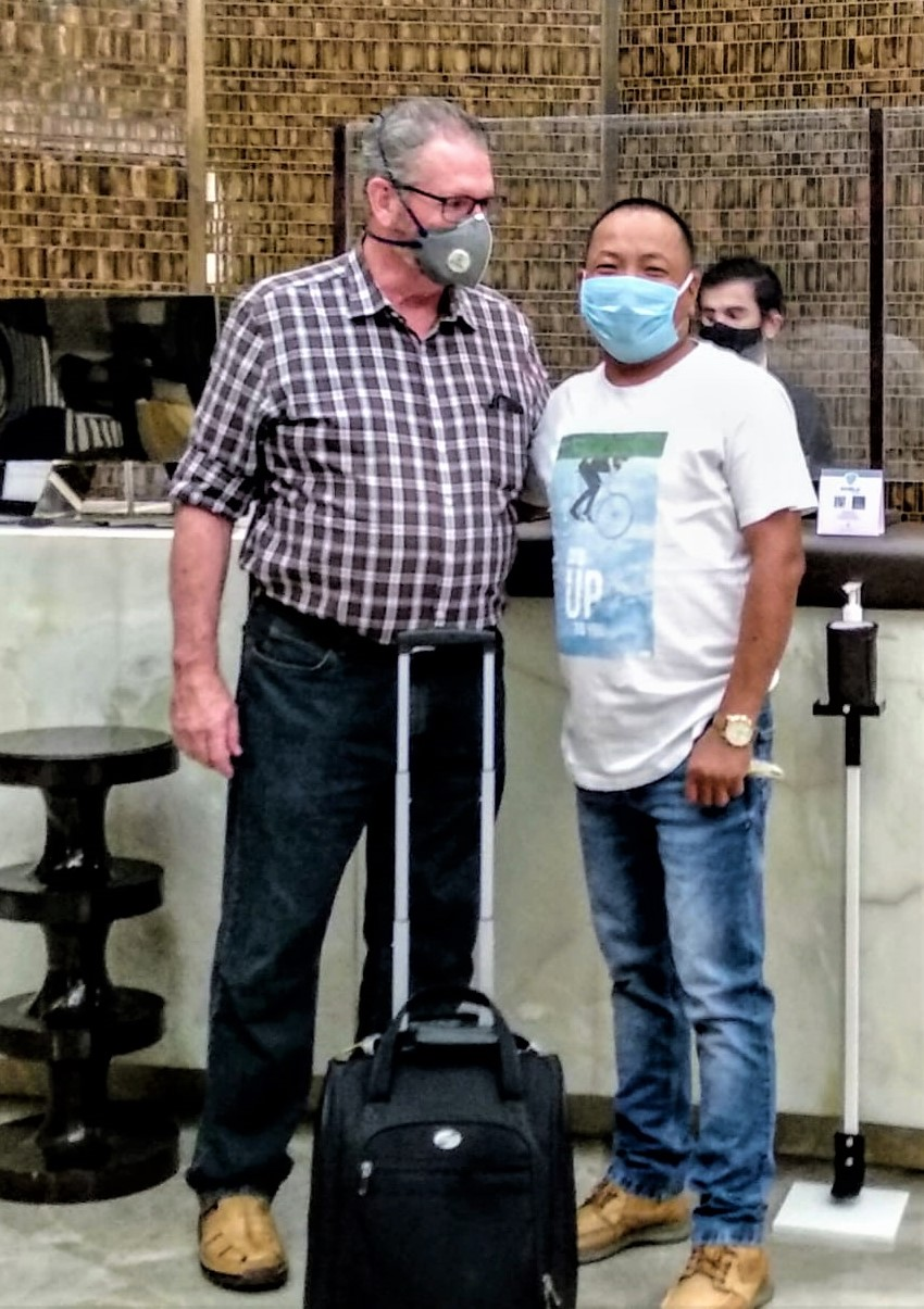 Pastor Bryan Nerren (L) with pastor David Rock before departure from India. (Morning Star News)