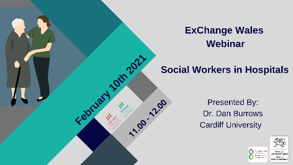 Image advertising Social Workers in Hospitals webinar on 10th February 2021 at 11am. Click on image to book a place.