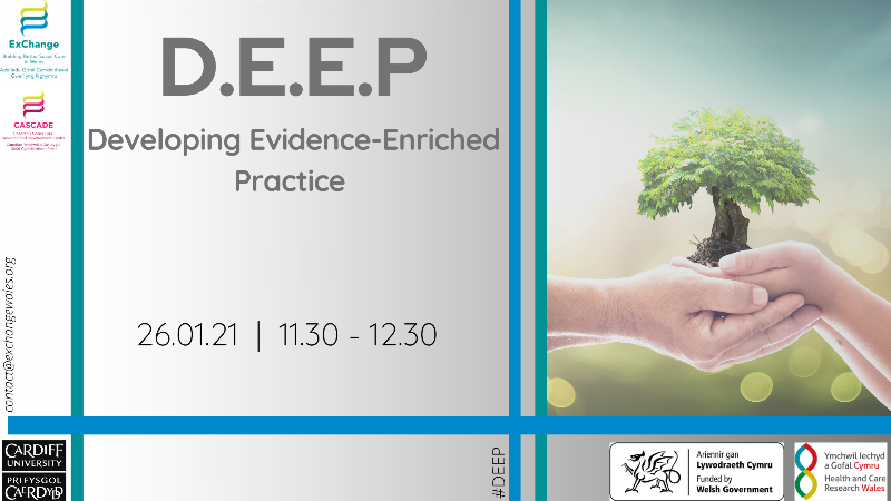 Image advertising the DEEP webinar on 26th January at 11.30am. Click on image to register for the webinar.