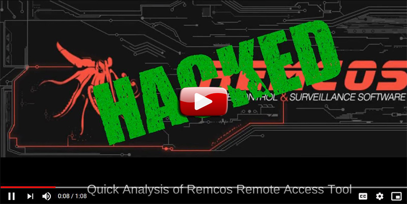 Quick Analysis of Remcos RAT in this Live Stream from LIFARS.com Malware Lab