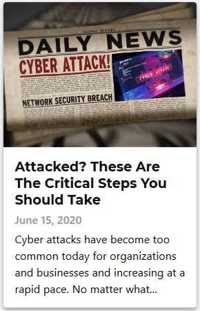Attacked - These Are The Critical Steps You Should Take