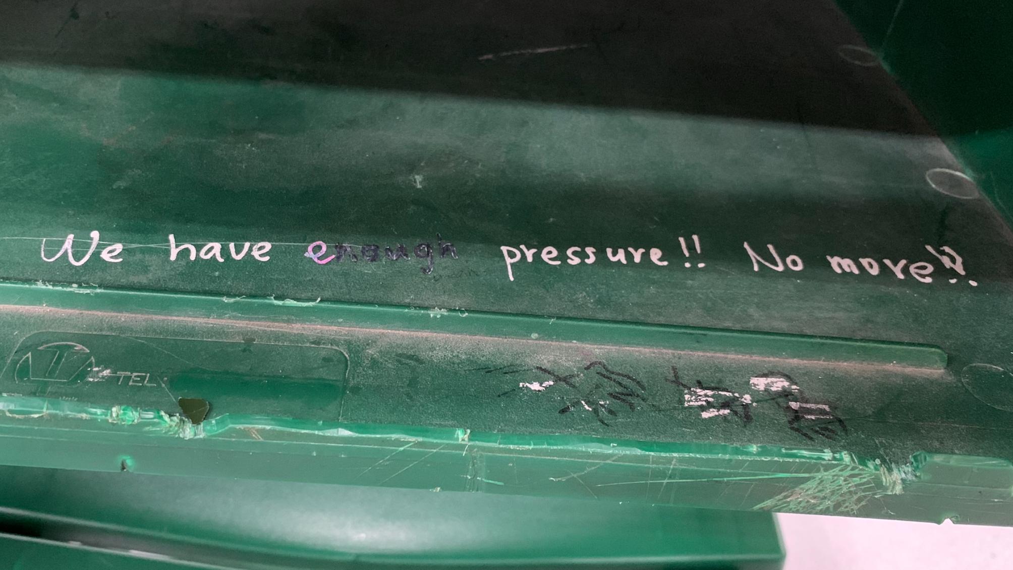 We have enough pressure!! No more!!