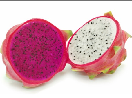 Red and white dragon fruit