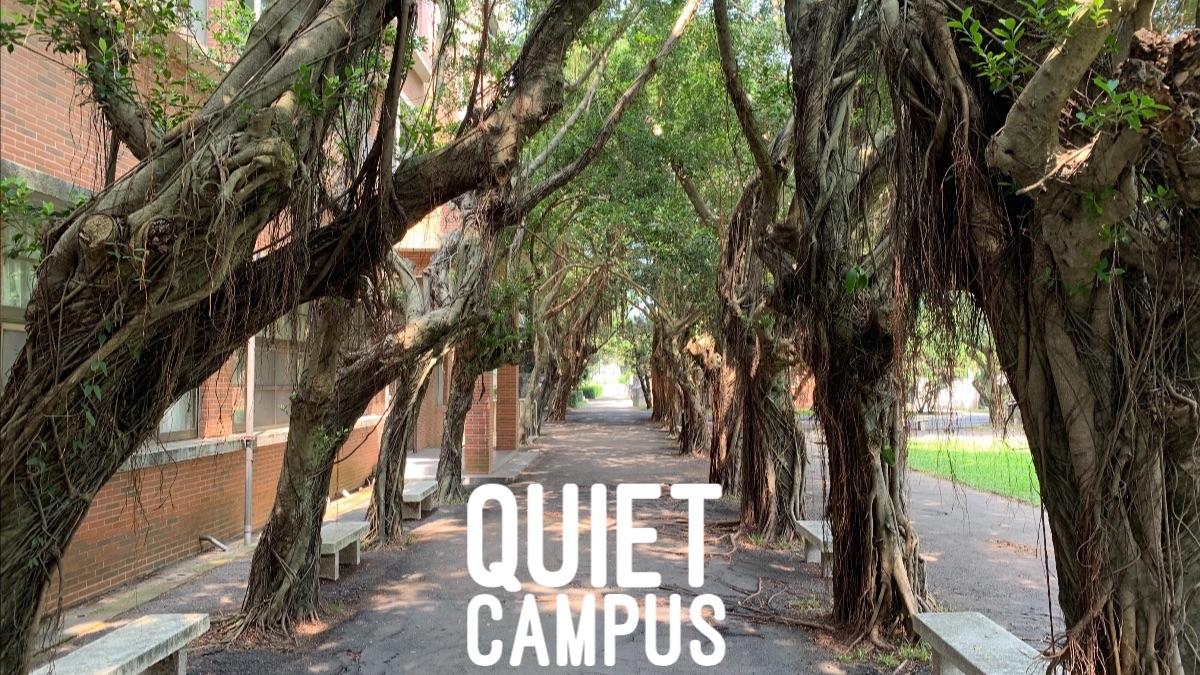 The school campus is quiet during the 3 week coronavirus break.