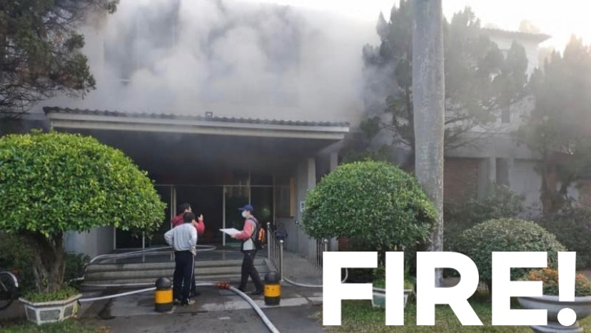 Administrative building fire at CMS