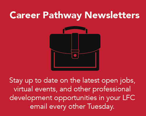 Career Pathway Newsletters. Stay up to date on open jobs and events every other Tuesday.