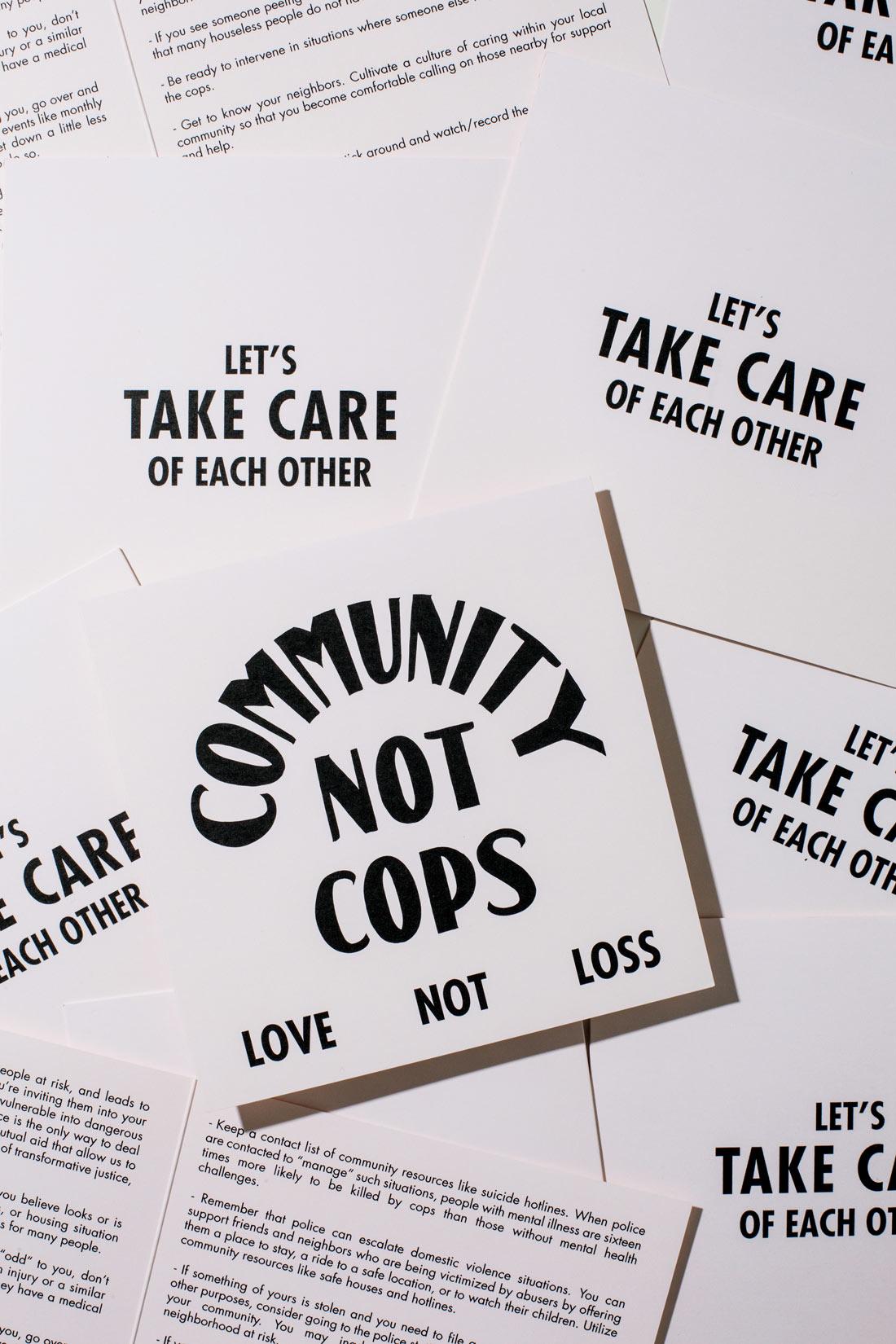 Community not cops