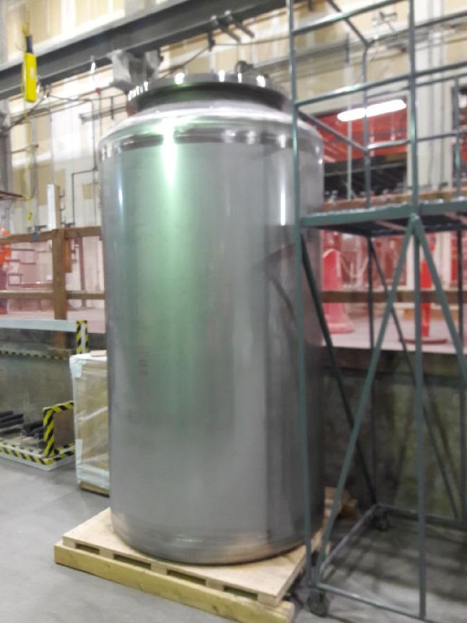 The engineered 7-foot tall, 4-foot wide containers will be filled with molten glass containing simulated and real radioactive waste during the Vit Plant's commissioning phase