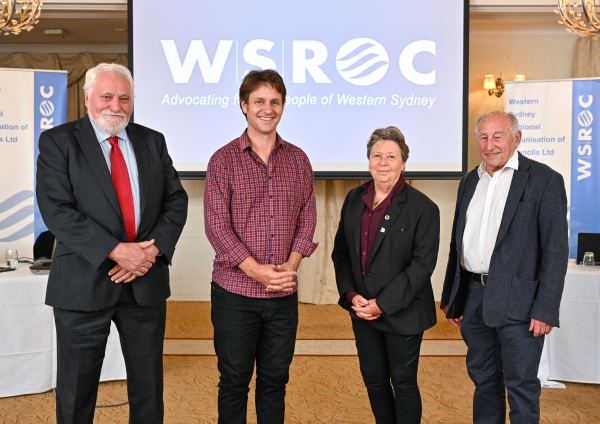 WSROC Executive, pictured with guest speaker Craig Reucassel, at the AGM on Nov 19. Not pictured - Senior Vice President Tony Bleasdale