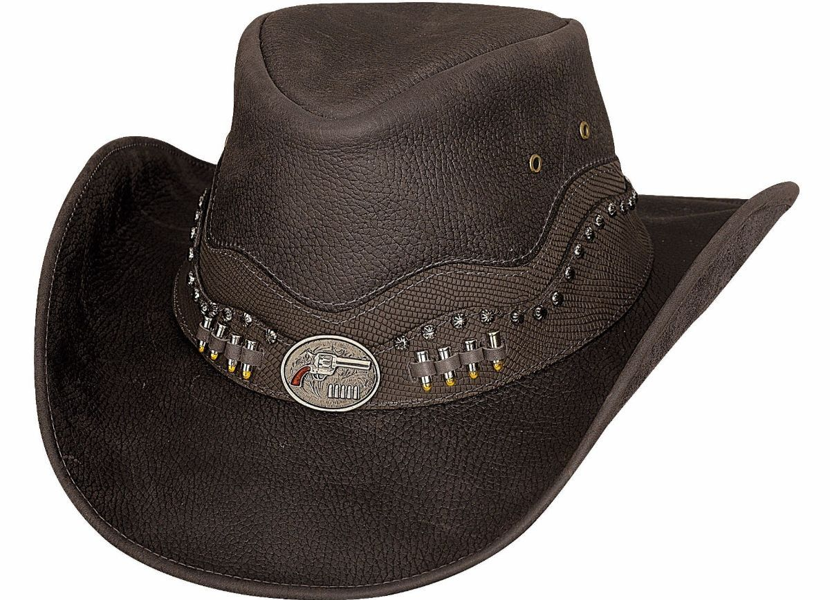 Bullhide Brown Leather Hat Truth Or Consequences #5004076