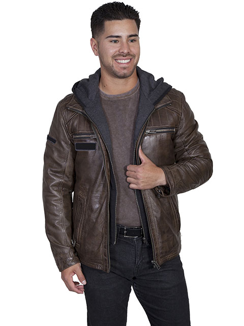 Men's Scully Leather Jacket Zip Front #101612