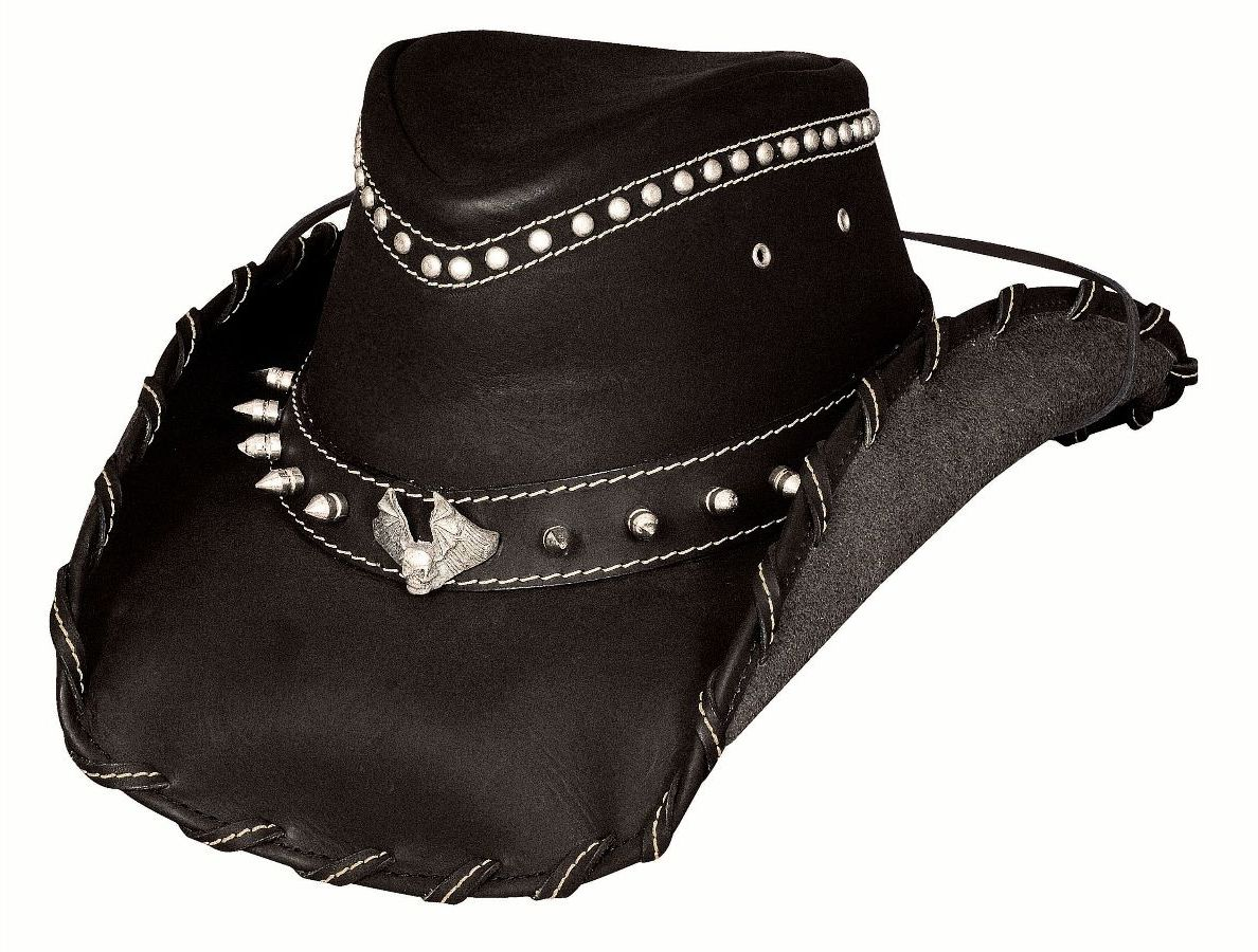 Bullhide Hats Iron Road Black Leather Hat #5004022