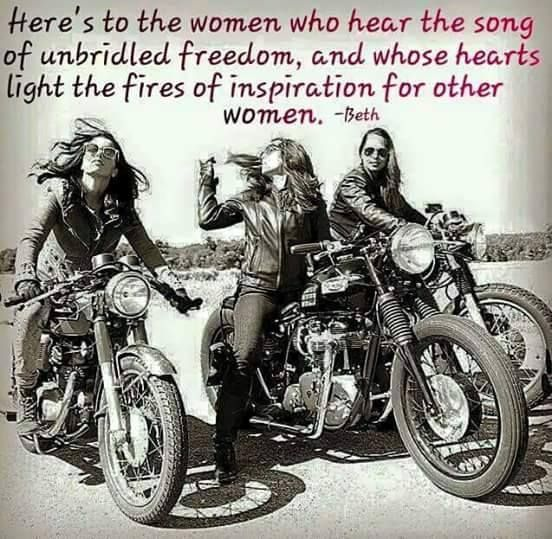 Three Women on Motorcycles