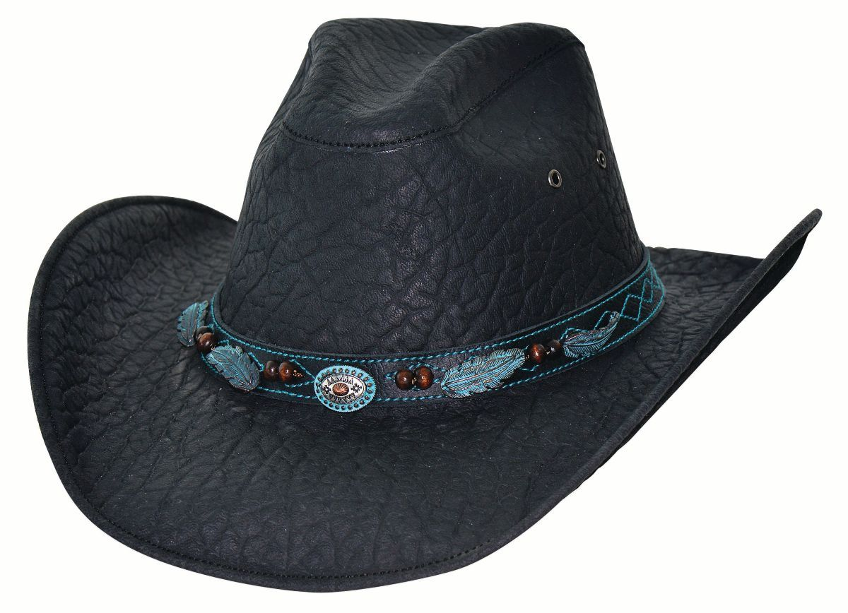 Bullhide Hats Black Leather Serenade #5004069