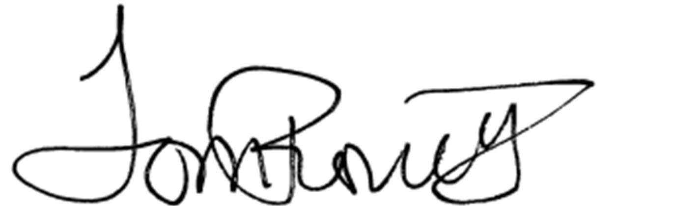 Tom Romero signature