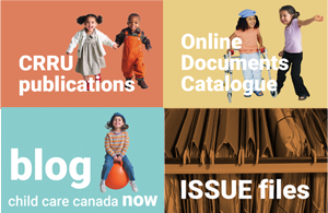 Resources on the CRRU website: Publications, Online Documents Catalogue, Blog and ISSUE files