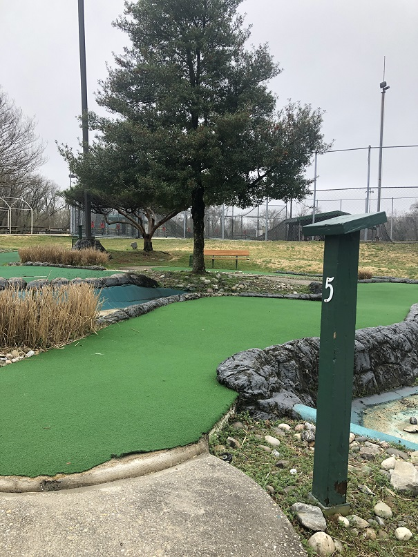 Hole number 5 on the mini golf course