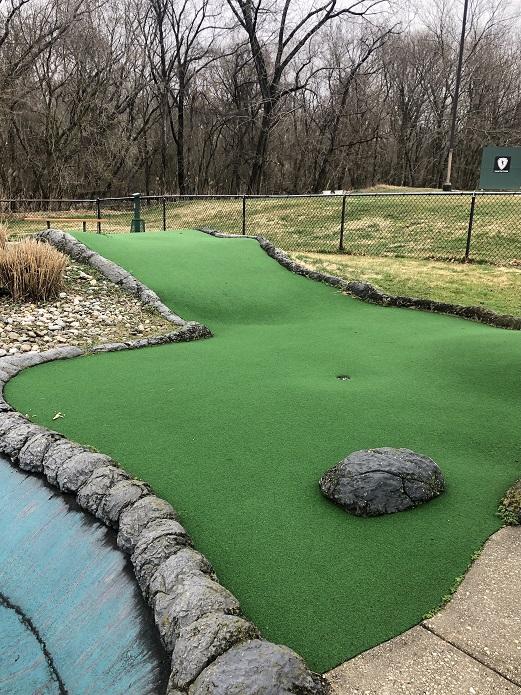 A large mini golf hole