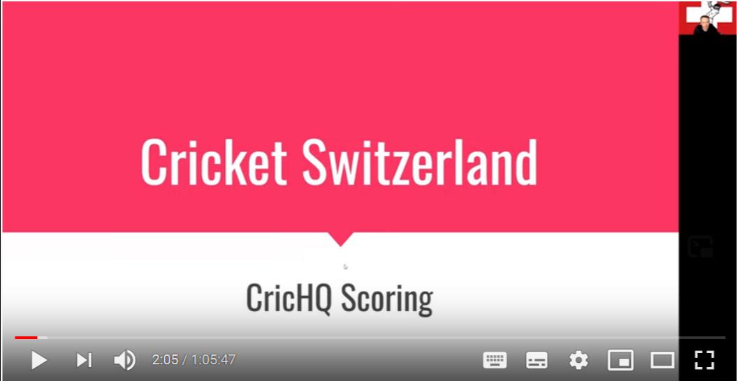 Scoring with cricHQ