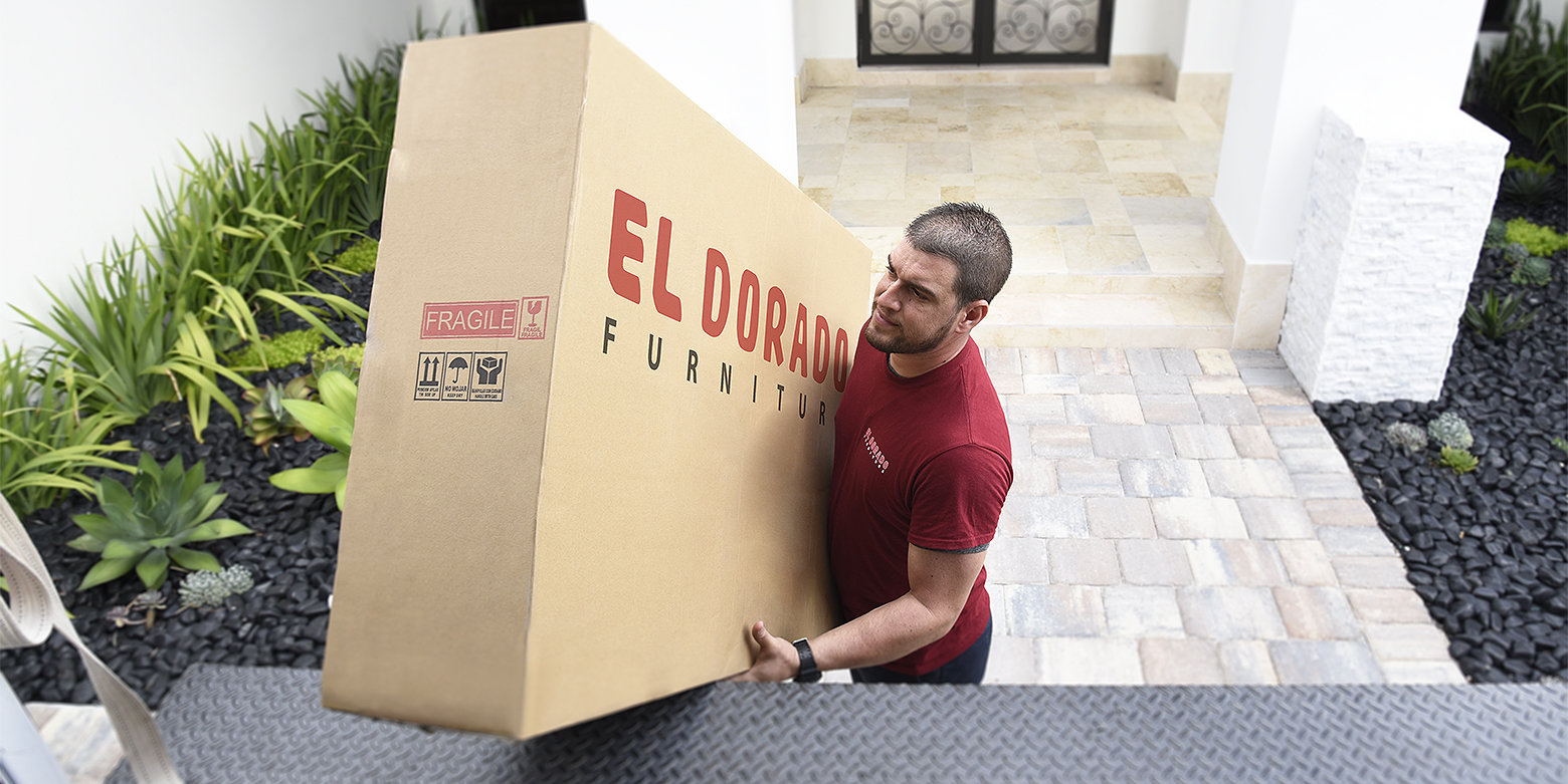 Delivery man loading box