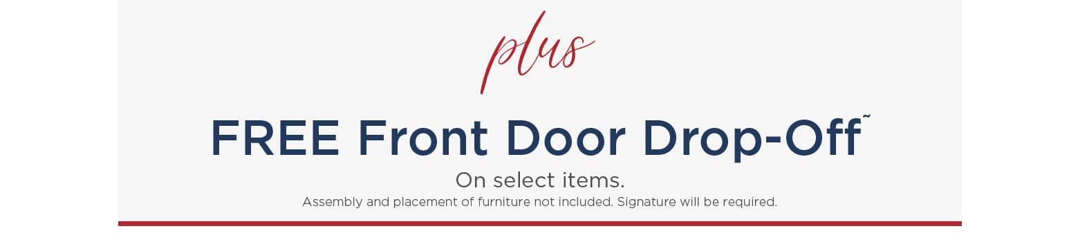 plus FREE Front Door Drop-Off