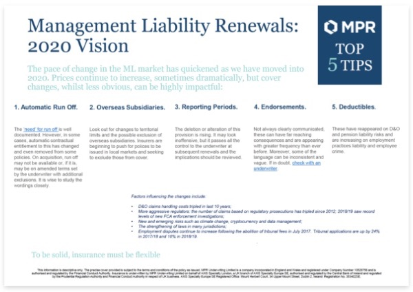 ML Renewals: 2020 Vision - Top 5 tips