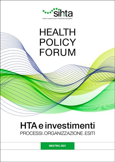 HPF 2021 - HTA E INVESTIMENTI Professioni. Organizzazione. Esiti