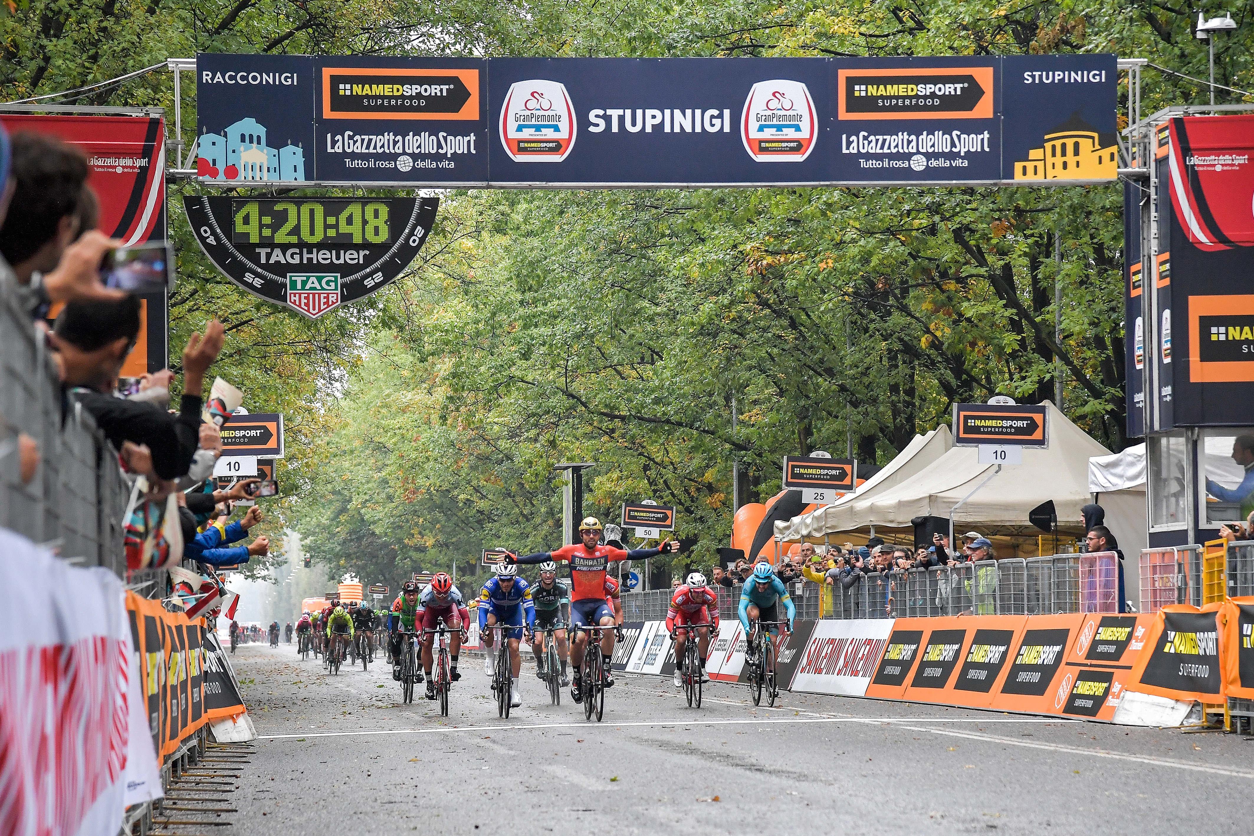 L'edizione 101 della Milano-Torino by EOLO si concluderà a Stupinigi (Nichelino), davanti alla Palazzina di Caccia dove nel 2018 Sonny Colbrelli si impose vincendo il GranPiemonte.