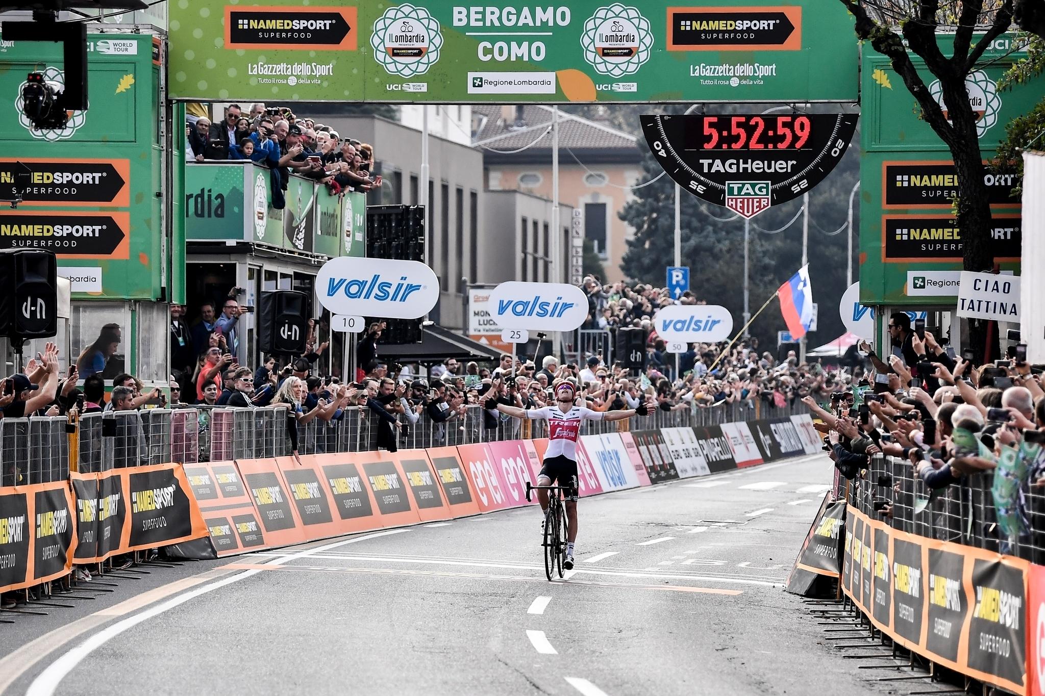 Bauke Mollemavince a Como l'edizione 2019 de Il Lombardia
