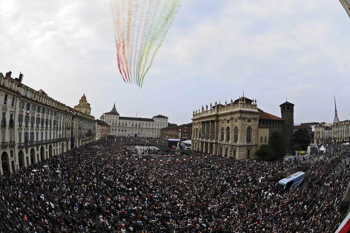 L'abbraccio di Torino al Giro d'Italia nel 2011