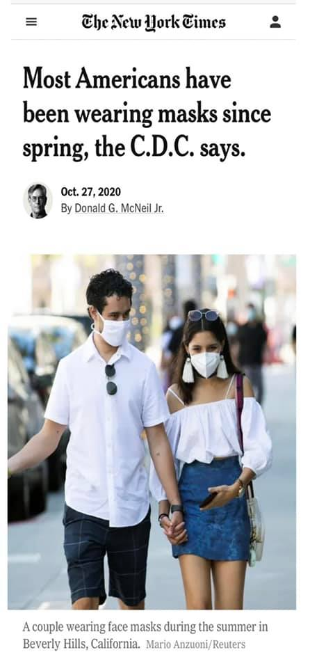 Americans have been wearing masks since spring.