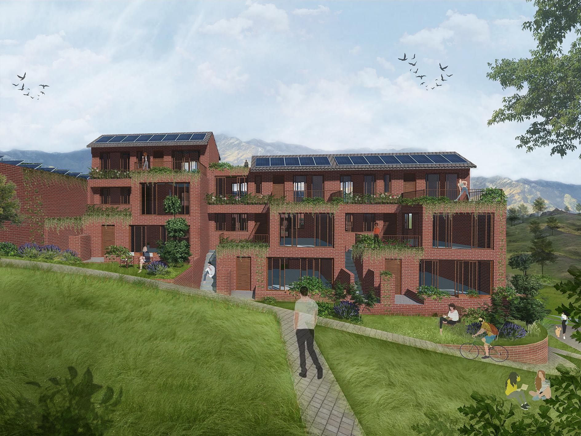 2020 Passivhaus Student Competition - Main Road Eco Village Yadu, Gorjimahlabani, Mody, Jaju, Sheffield School of Architecture