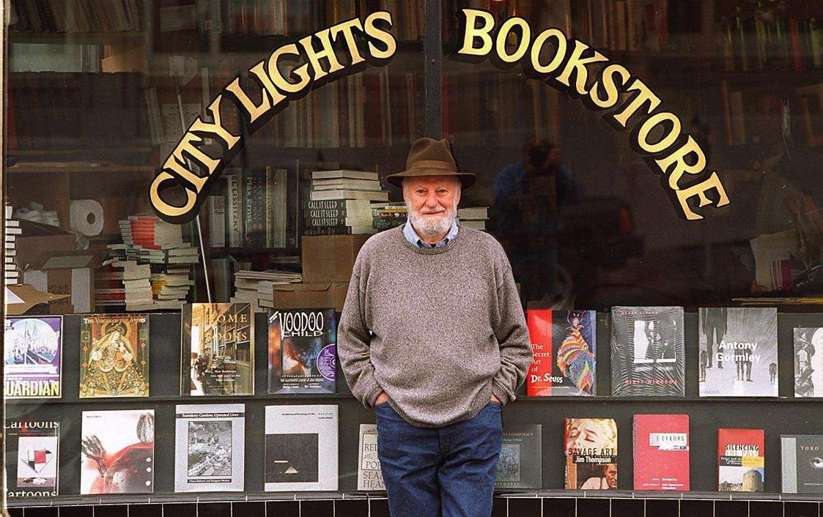 Lawrence Ferlinghetti at City Lights Bookstore