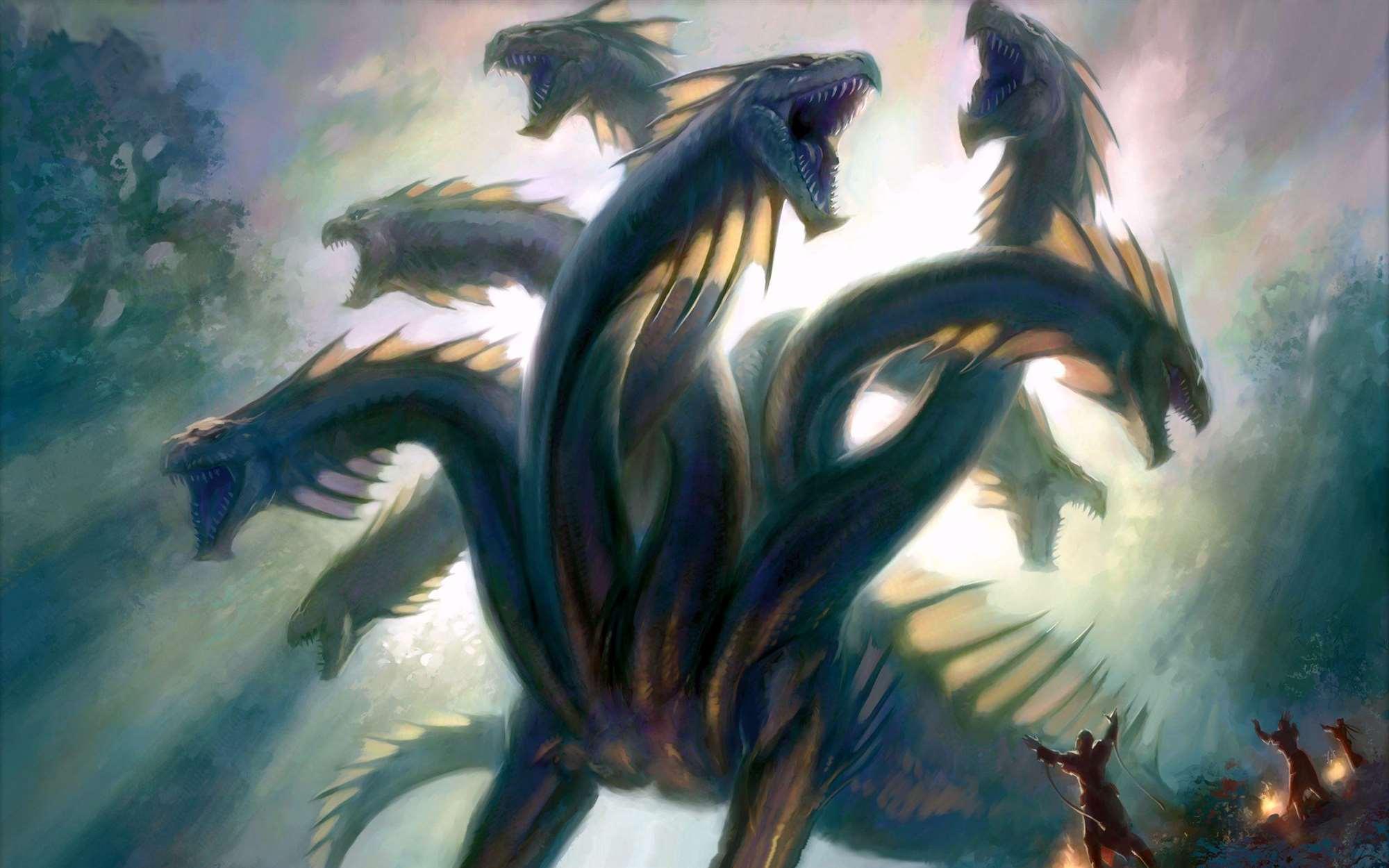 hydra-headed dragons