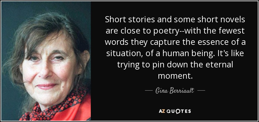 Gina Berriault on some short stories being akin to poetry
