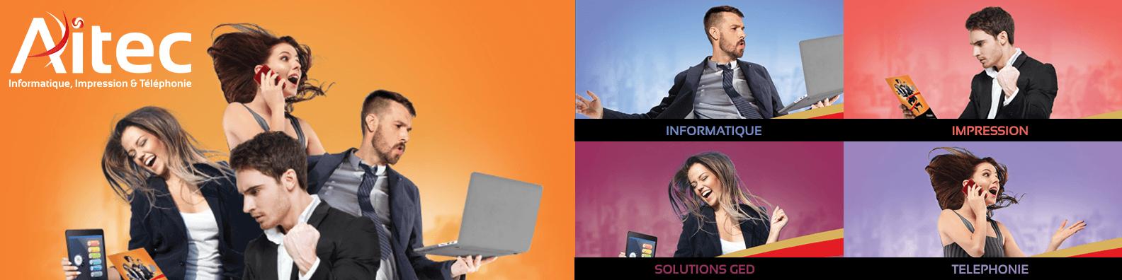 AITEC à votre service pour tout équipement informatique, téléphonique, bureautique ou GED