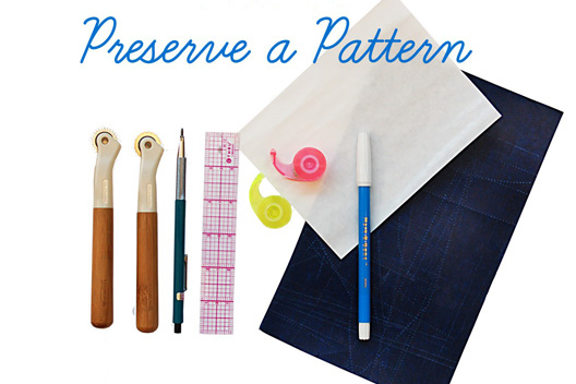 How to Preserve a Sewing Pattern