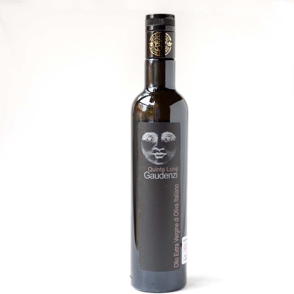 Quinta Luna Bottle of Olive Oil with a Moon Face