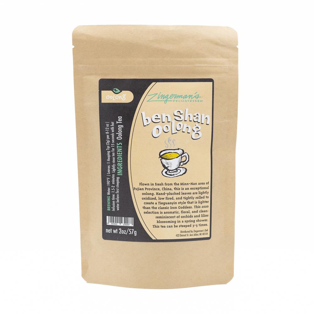 A package of Ben Shan Oolong tea