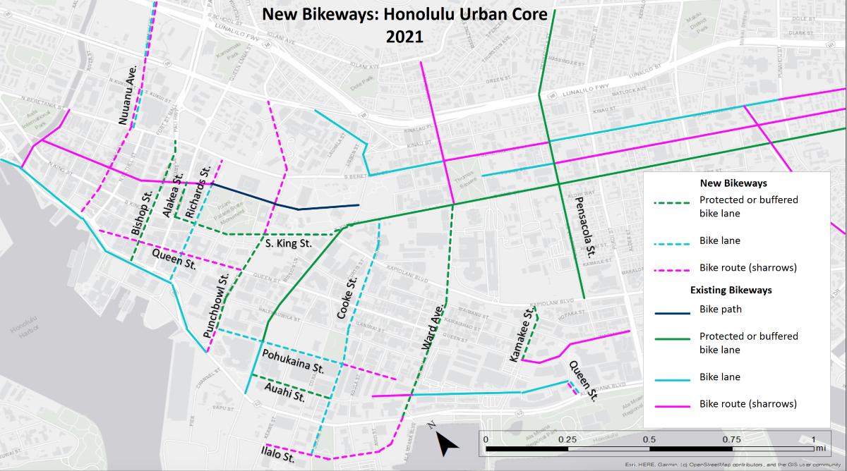 Honolulu Urban Core Map