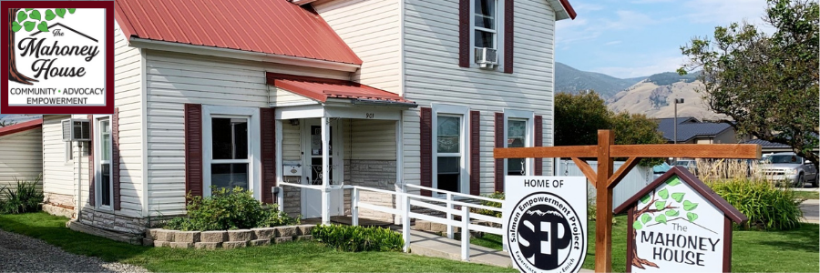 logo and picture of the Mahoney House