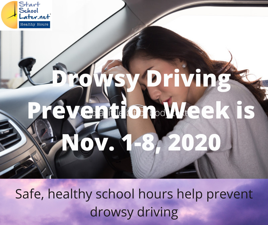 Drowsy Driving Prevention Week is Nov. 1-8, 2020
