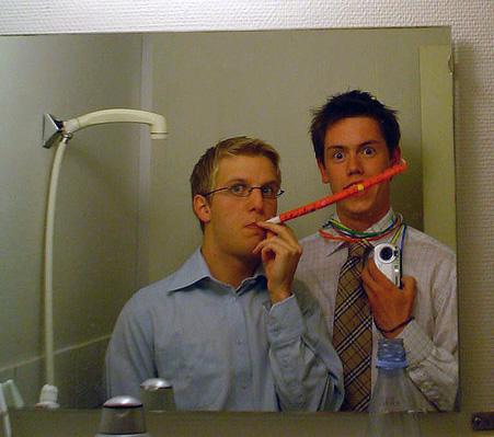 Björn og Hannes í lýðháskóla 2003